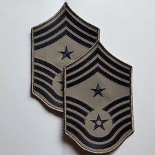 1 Paire U.S. Air Force écusson patch Command Chief Master Sergent e-9 Rank Abu