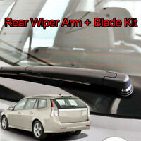 "12"" Rear Windscreen Wiper Blade Arm Set For SAAB 9-3/9.3 Estate 2003-2012"