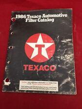 Texaco 1986 Automotive Filter Catalog