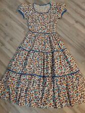 Vintage 50s 60s Prairie Floral Peasant Dress