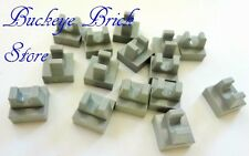LEGO Light GRAY PLATE 1x1 with Top Clip on Top Tiles Lot/ 15