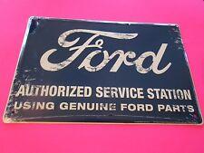 tin metal decor gas oil dealer garage repair shop advertising petroleum parts