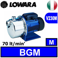 ELETTROPOMPA LOWARA BGM9 AUTOADESCANTE JET INOX HP 1,2 MONOFASE
