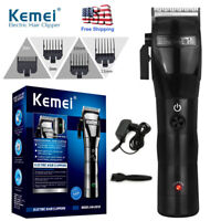 Professional Hair Clippers Trimmer Kit Fast Charge Cutting Machine Barber US KM