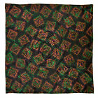 "New SANTOSTEFANO Black Brown Green 12"" Silk Pocket Square Handkerchief NWT 150"