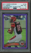 2011 Topps Chrome Looking Left Purple Refractor #150 A.J. Green 376/499 RC PSA 8