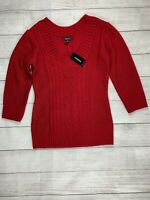 Express Red Cable Knit Scoop Neck Sweater NWT - Medium