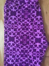 NWOT Lularoe One Size Purple White Tye Dye Leggings Unicorn