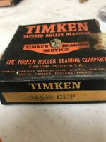 Timken 26300 Tapered Roller Bearing Race Cup – New Old Stock