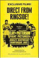 Cassius Clay (Muhammad Ali) and Floyd Patterson Rare Vintage Boxing Poster