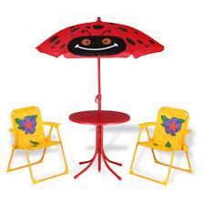 Kindersitzgruppe Garten Sitzgarnitur Kindermöbel Kinder Tisch Sonnenschirm Stuhl