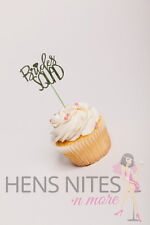 Hens Night Cupcake Picks Cupcake Toppers 10 Pack - BRIDE SQUAD