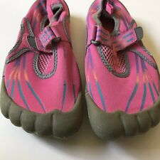 OP Girls Water Shoes Sz  2/3 Gray and Pink