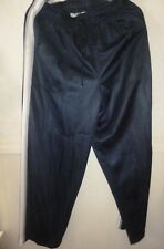 Women's Catalina sport athletic pants slacks navy gray/white stripe size Large