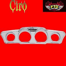 Ciro Chrome Fairing  Dash Accent for Harley FLH/T Inner Fairing 14-17 ciro 42205