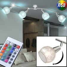 LED Ceiling Lamp RGB Remote Control Glass Ball Spotlight Dimmer Dinner