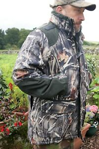 WETLANDS CAMO WATERPROOF BREATHABLE LINED WILDFOWLING WILDFOWLERS BROCARD JACKET
