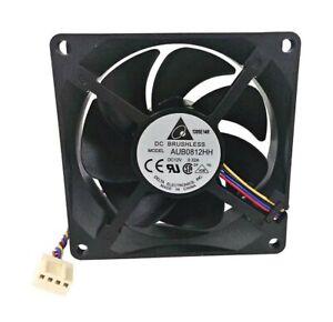 PWM Cooling Fan 80x80x25mm Delta Electronics AUB0812HH PWM 4-pin 3250 RPM 37 CFM