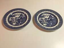WILLOW BLUE ENGLAND EARTHENWARE BY JOHNSON BROS - NEW - DINNER PLATES - 2 TOTAL
