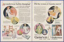Vintage 1924 CARTER'S KNIT UNDERWEAR Undergarment Fashion Ephemera 20's Print Ad