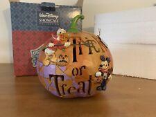 Jim Shore Disney Light Up Pumpkin Trick Or Treat With Mickey & Donal 4033277 NIB