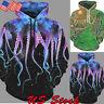 Men Women's 3D Graphic Print Hoodie Sweatshirt Jacket Pullover Sweater Coat Tops