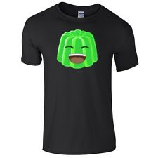 Green Jelly Face T-shirt For Kids Gaming Gamer Youtuber Fan Size M 8-9 SALE!!