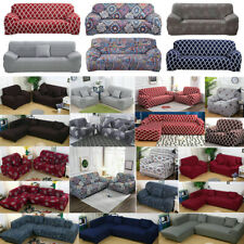 Stretch 1 2 3 4 Seater Sofa Covers Couch Chair Protector Solid/ Floral Slipcover