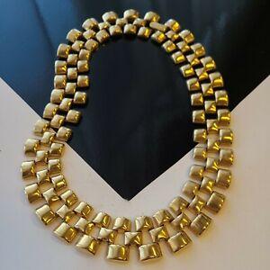 "Vintage Avon NR Nina Ricci Mesh Chain Necklace 17""L"