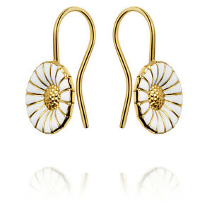 Georg Jensen Gilded Silver Earhooks DAISY - 11 mm