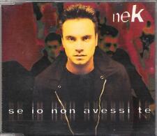 """NEK - RARO CDs """" SE IO NON AVESSI TE """""""