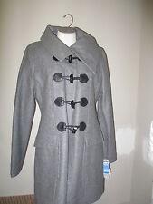 Mavi Jeans Wool Toggle Coat L Heathered Gray  NWT