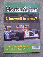 Motor Sport (Dec 92) Alfa 155 GTA, Esprit SE, Japan, Australia GP, Sanremo Rally