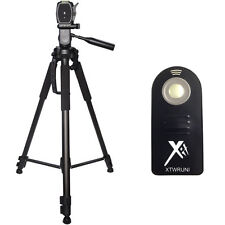 "XIT 72"" Tripod + Wireless Remote for Canon SL1 70D 60D T6i T6s T5 T5i T4 SLR"