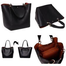 SQLP Women Ladies Leather Tote Bag Handbag Shoulder Bag Black Style Fashion Bags