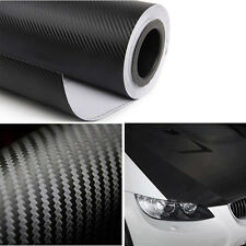 Hi-Q Black 3m Carbon Fiber Vinyl Auto Car Wrap Roll Film Sticker 127cm*50cm