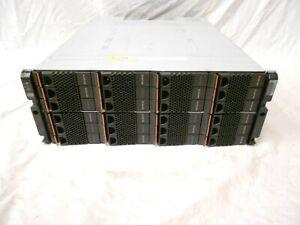 NetApp DS4246 Disk Array Shelf W/ 24x SAS SATA Trays 2x IOM6 Expansion Array