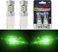 LED Light 80W 4157 Green Two Bulbs Front Turn Signal Replacement Lamp Show Use