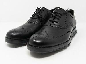 Cole Haan Zerogrand Wingtip Oxford Black C20719 Men's Size 10.5 M