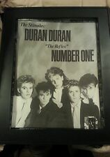 Rare Duran Duran The Reflex Promo Poster Ad Printed Once and Framed!
