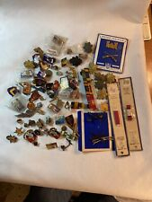 Vintage Lot Military Pins Tacks Plus Other Ad Pins