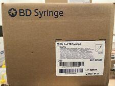 Bd Syringe Tb 1ml Slip Tip Disposable Box Of 200 1cc 309659