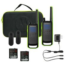 Motorola Talkabout T801 Two-Way Radio, 35 Mile, 2 Pack, Bluetooth, Black & Green