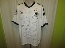 """L'ALLEMAGNE """"écusson"""" Nº 115 Adidas Coupe du Monde maillot 2002 + Imprimée Signatures taille L"""