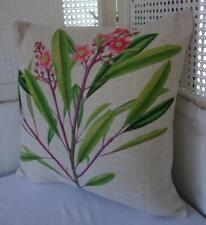 Spray of Pink Flowers Cotton Blend Cushion Cover 45