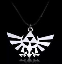 "Legend Of Zelda Triforce Necklace Pendant Charm Silver 2"" US Seller"