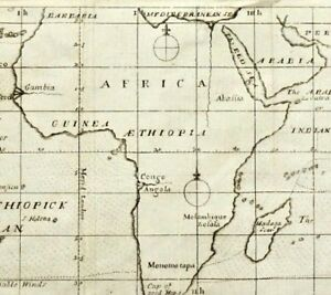 1686 Important  WORLD MAP RRR - HALLEY / First meteorological map Variable winds