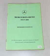 Manuale di istruzioni/owner'S MANUAL MERCEDES w121 Ponton 190 STAND 07/1958