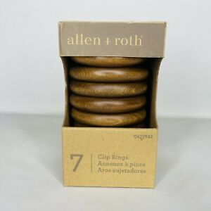 Allen + Roth 7 Pack Curtain Clip Rings Espresso Finish Fits 1-3/8 Rod 0622944