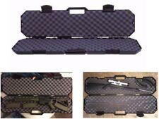 Tactical AR-15 Rifle Gun Black Hard Sided Case Storage Accessory With Safe Foam